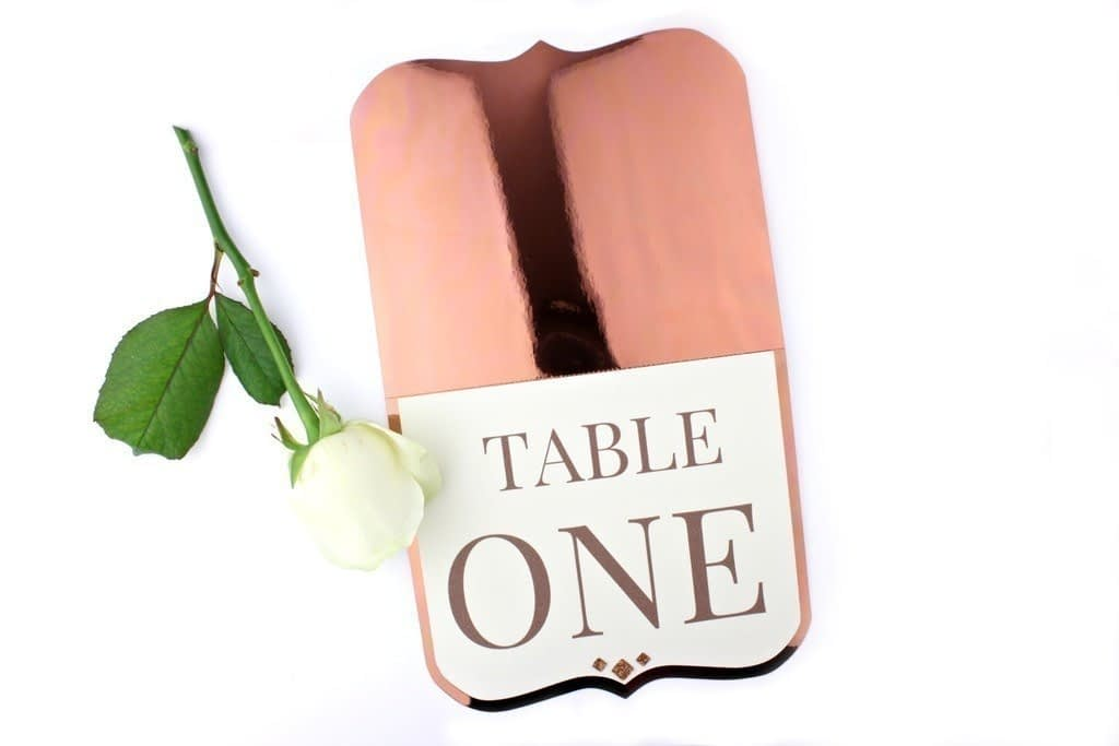 Shine Copper Table Numbers