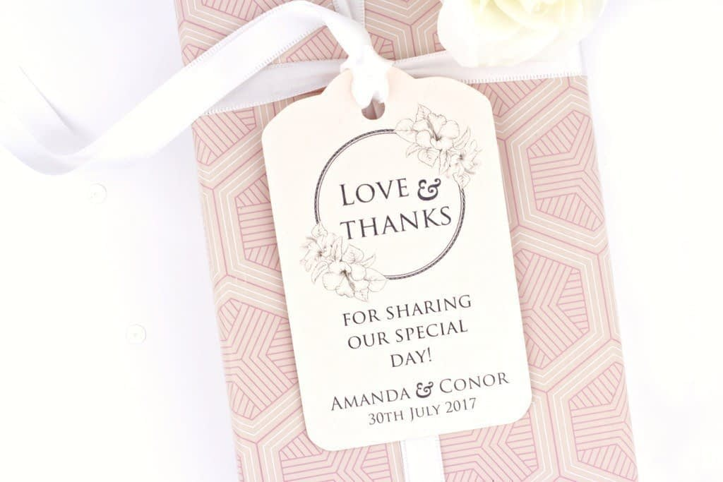 The One Rose Quartz Gift Tags