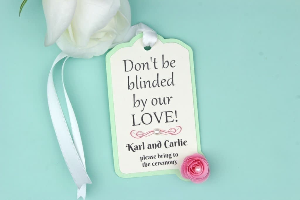 Wedding Sunglasses Gift Tags