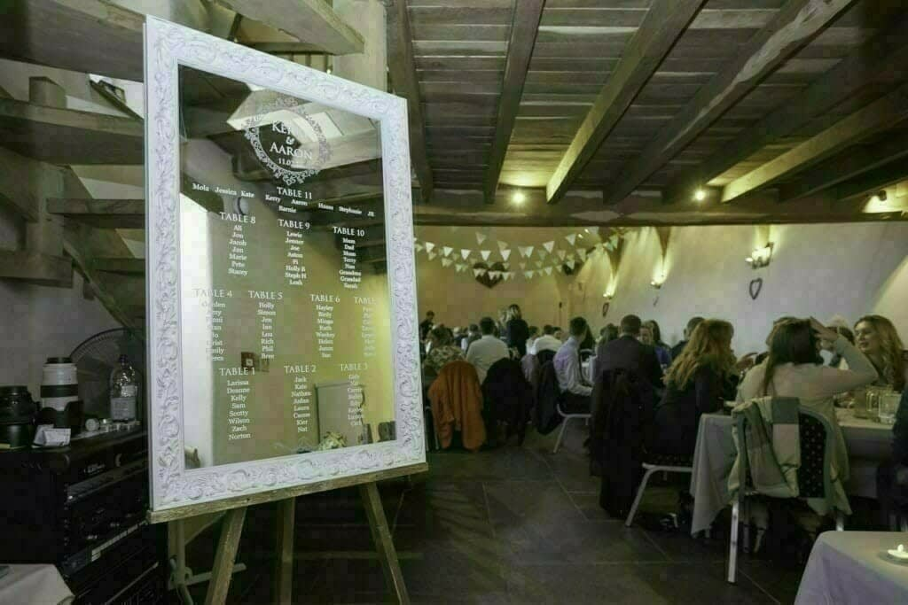 Love Storey Wedding Mirror Table Plan