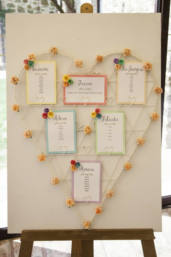 boho chic wedding table plan 3