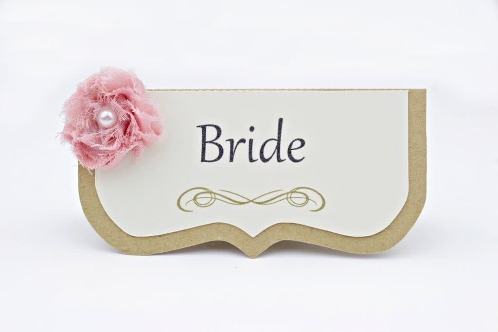 Shabby Chic Wedding Place Cards