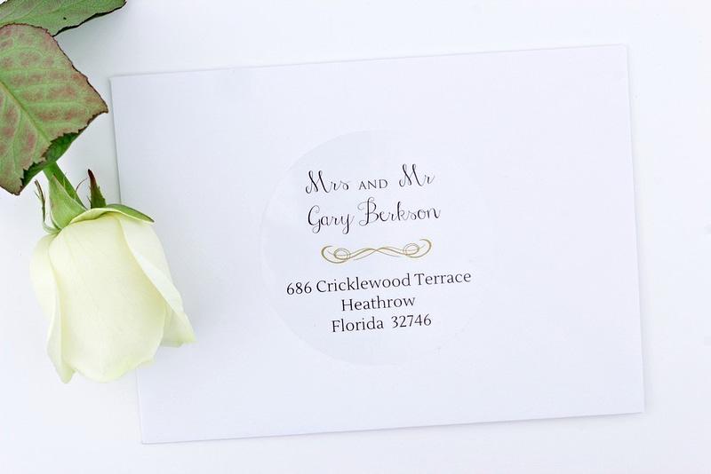 wedding invitation address labels for guests  arts  arts