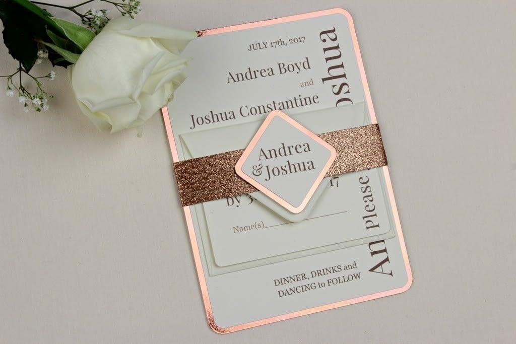 Shine Copper Wedding Invitation