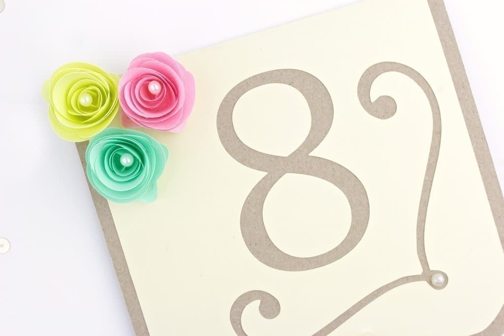 Boho Chic Table Numbers