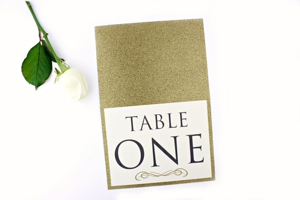 Luxe Gold Glitter Table Numbers